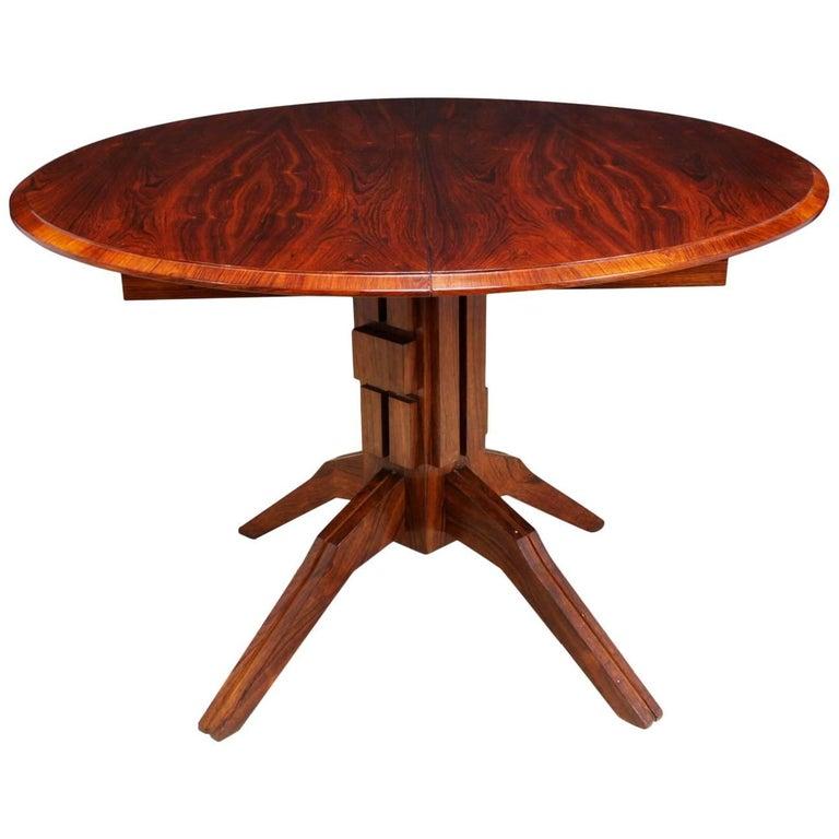 Midcentury Italian Rosewood Dining Table