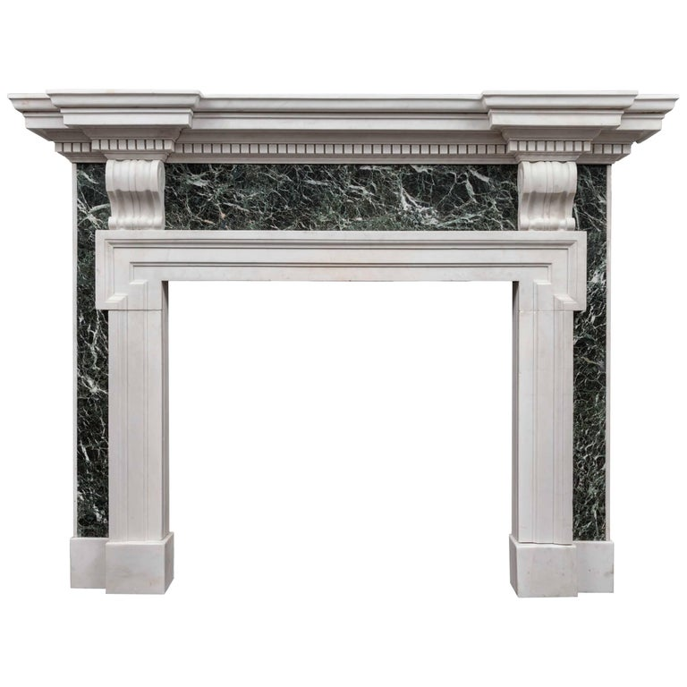 Palladian Marble Fireplace For Sale