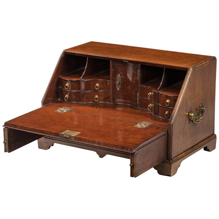 Rare George III Period Mahogany Table Bureau