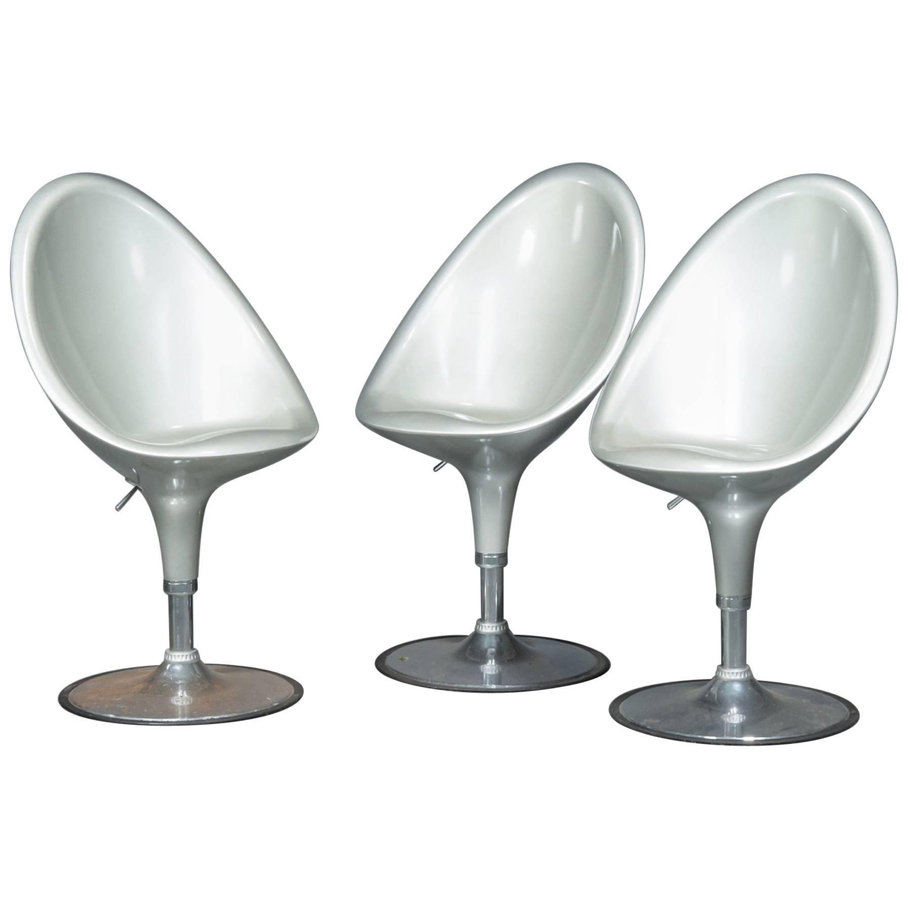 Set of Three Postmodern Bar Stools