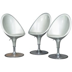 Set of Three Postmodern Bar Stools