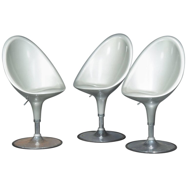 Set of Three Postmodern Bar Stools For Sale