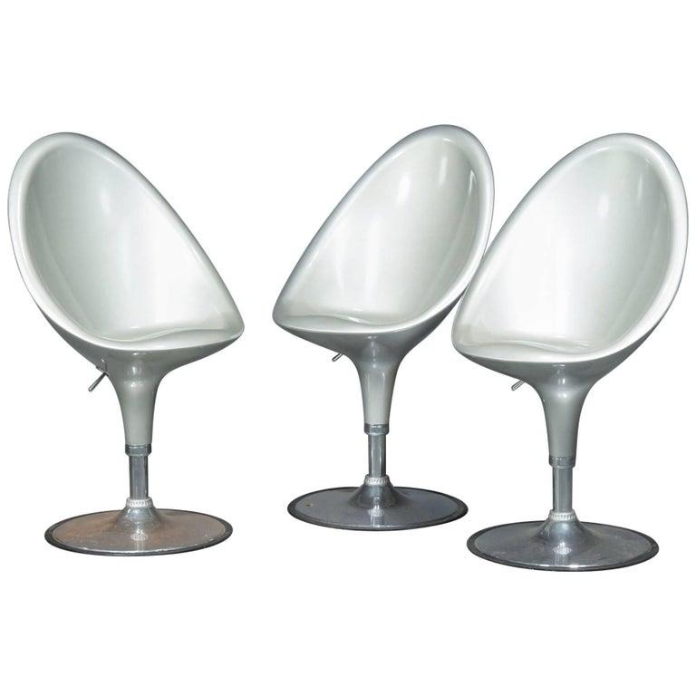 set of three arthur umanoff bar stools at 1stdibs. Black Bedroom Furniture Sets. Home Design Ideas