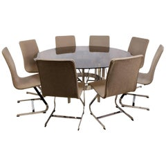 Merrow Associates Dining Table and Eight Chairs