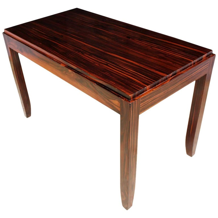 Art Deco Macassar Side Table
