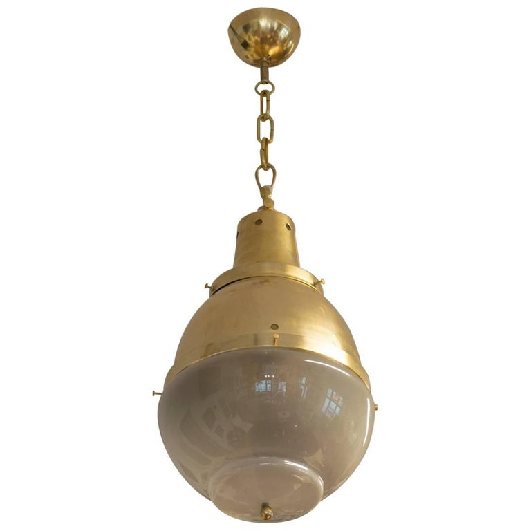 Bauhaus Pendant Lamp, 1930s, Central Europe