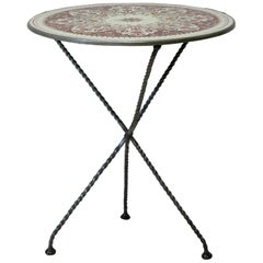 French 1920s Enameled Tripod Table