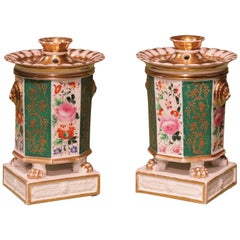Pair of 19th Century Porcelain Parfumiers