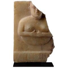 Ancient South Arabian Alabaster Princess, 50 AD