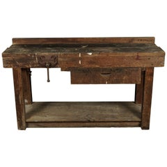 Pine Work Console from France, circa 1930