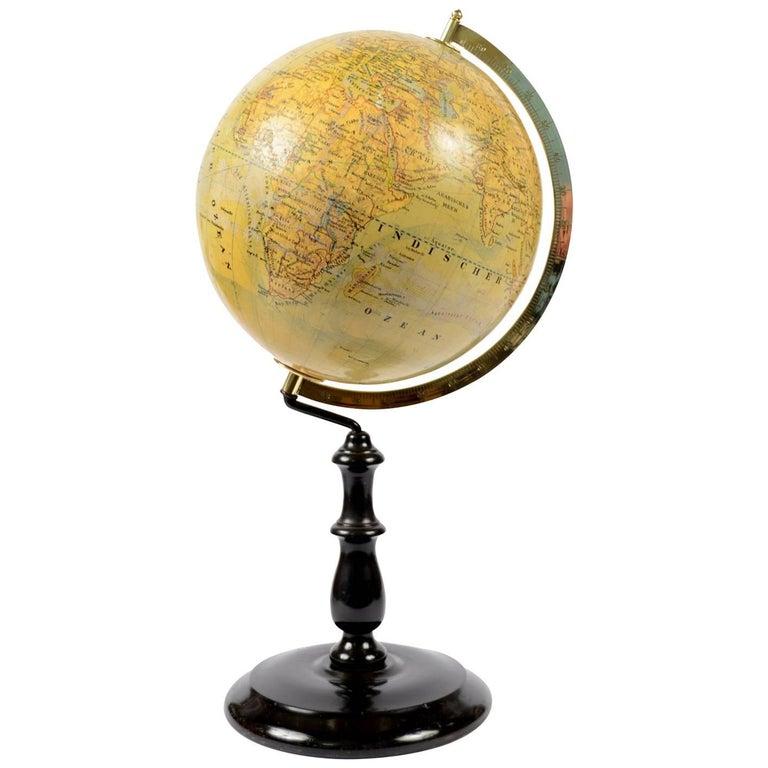 Terrestrial Globe by Jan Felkl Second Half of the 19th Century