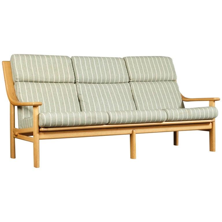 High Back Teak Sofa by Johannes Andersen for CFC Silkeborg