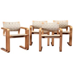 Four Chairs with Beech Armrests by Rud Thygesen and Johnny Sørensen