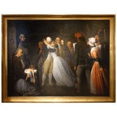 The Farewells of Louis XVI to Marie Antoinette Signed Lucien de Latouche, France
