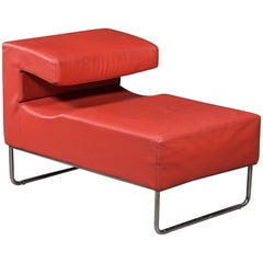 Red Chaise Longue Chair