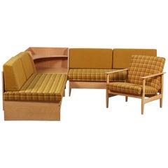 'Swan' Corner Sofa and Armchair