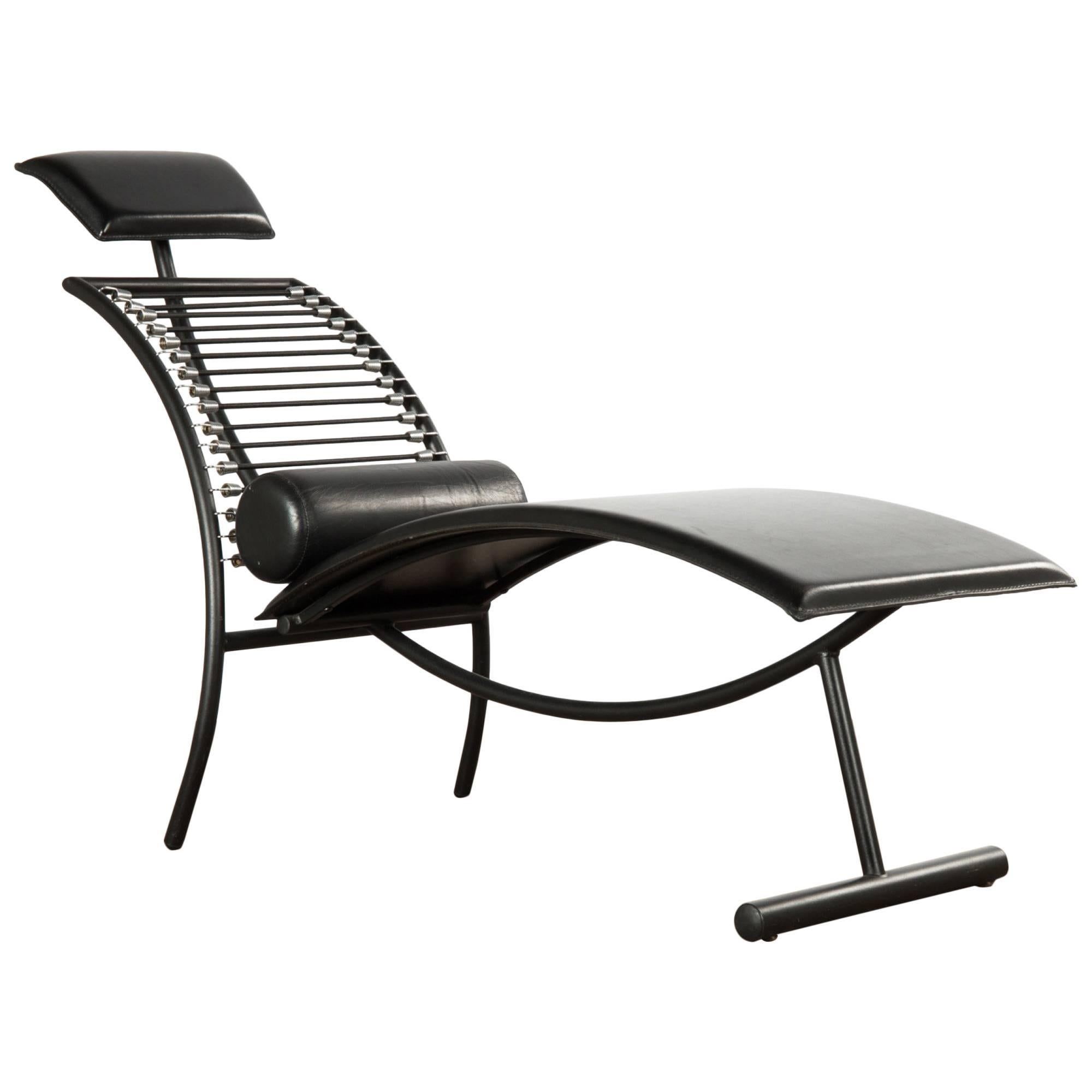 Postmodern Italian Chaise Lounge Chair, 1980s