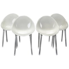 Four Postmodern Super Impossible Chairs, Philippe Starck Attributed for Kartell