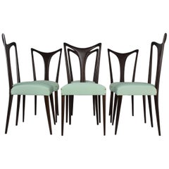 Italian Vintage Dining Chairs by Guglielmo Ulrich, Set of Six, 1940s