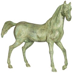 Patinated Bronze Horse