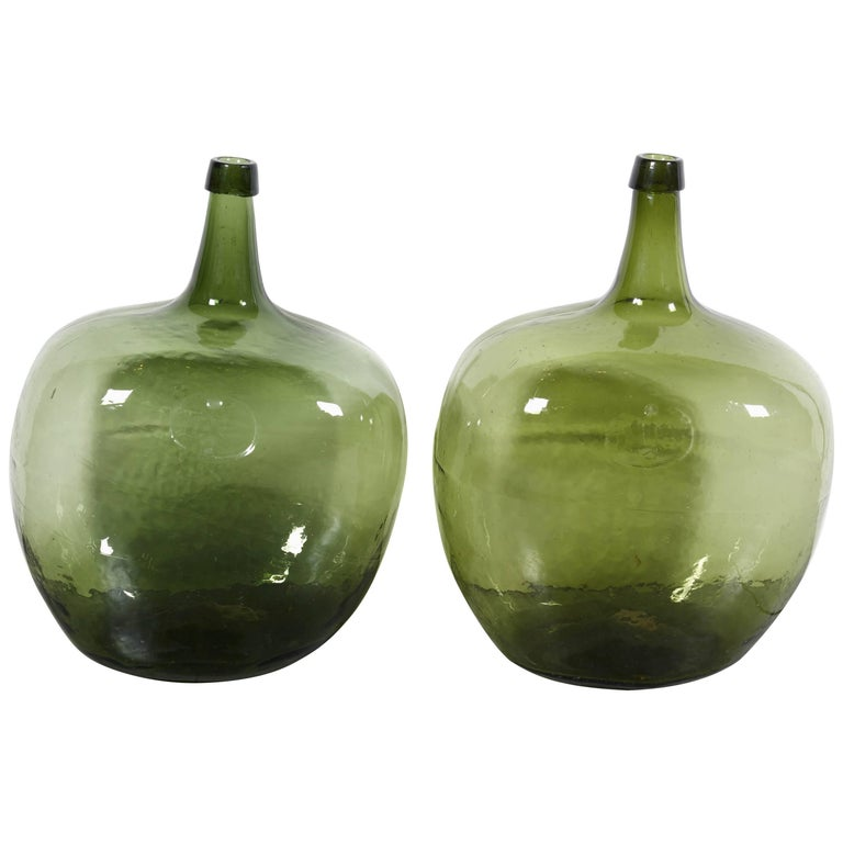 Blown Glass 19th Century Demijohns