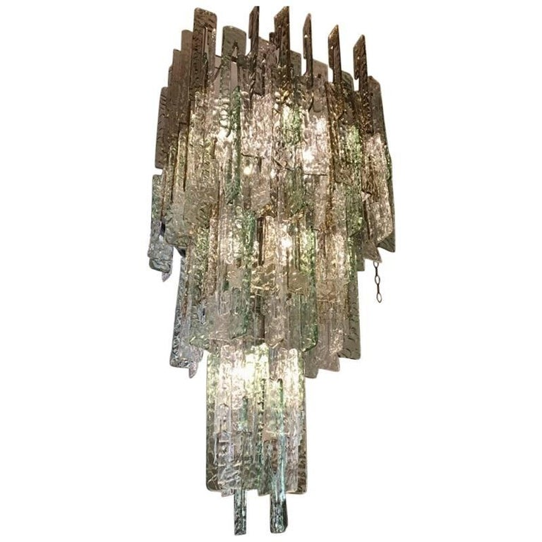 Murano Glass Chain Link Chandelier, 1980s