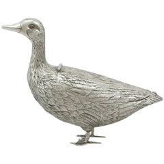 1890s Dutch Silver 'Duck' Sugar Box