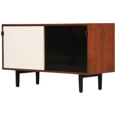Florence Knoll Walnut and Lacquered Credenza