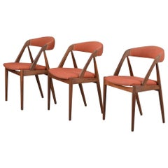 Three A-Frame Model 31 Chairs by Kai Kristiansen for Schou-Andersens Møbelfabrik