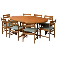 Eight Chairs with Matching Table by Kurt Stervig for KP Furniture