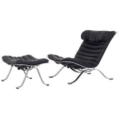 """""""Ari"""" Lounge Chair and Footstool by Arne Norell"""