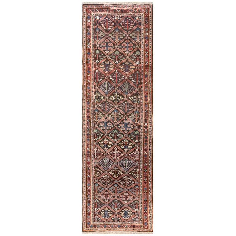 Antique Persian Shrub Design Bidjar Carpet