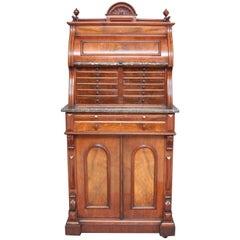 19th Century Burr Walnut Dentist Cabinet