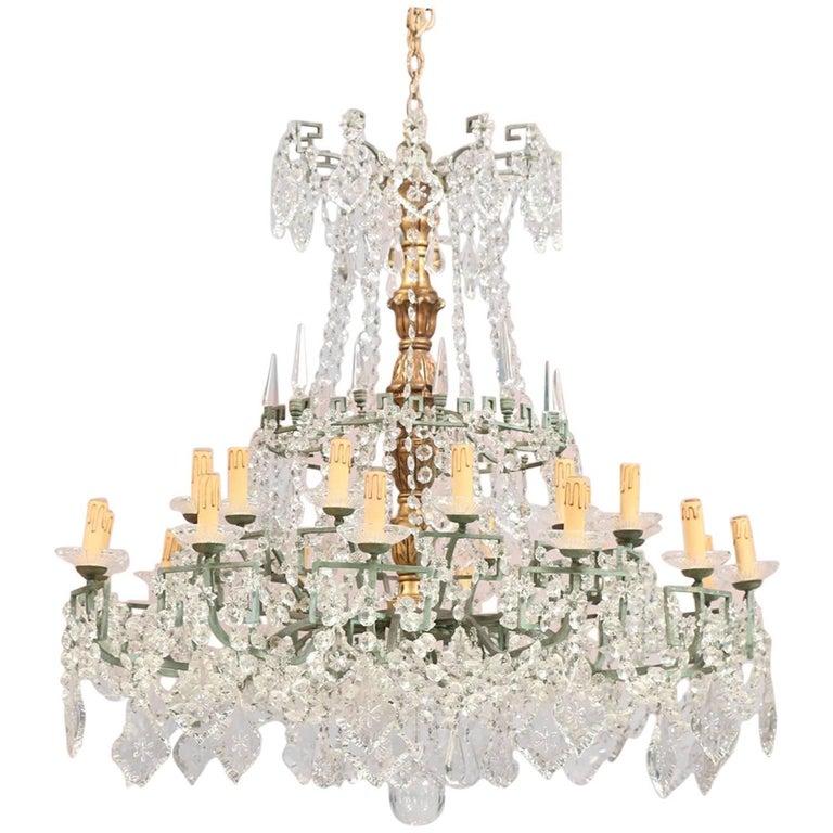 Monumental Italian Crystal Chandelier