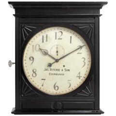 James Ritchie & Son Wall Clock, Scotland, circa 1900