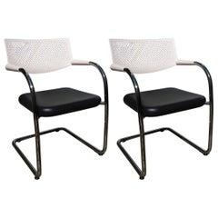 Pair of Visavis Two Armchairs by Antonio Cittero