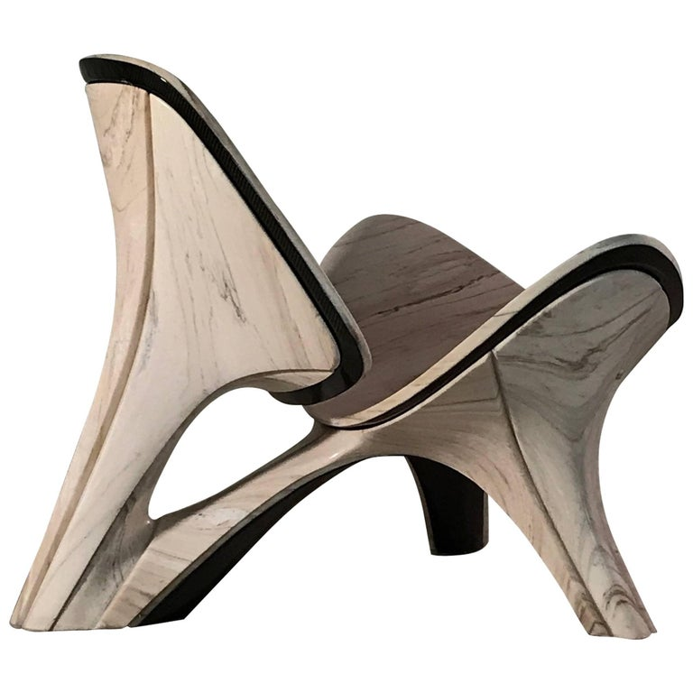 The 'Wegner' reinterpreted Lapella Marble Chair - Design Zaha Hadid Architects - For Sale