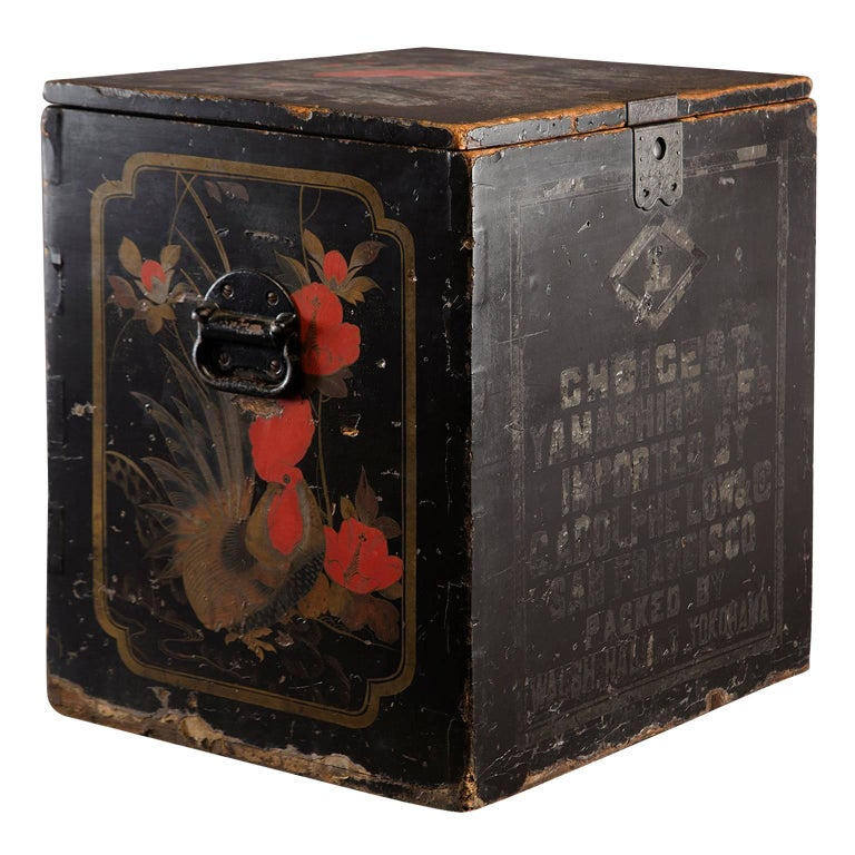 19th Century Large Japanese Store Display Tea Box