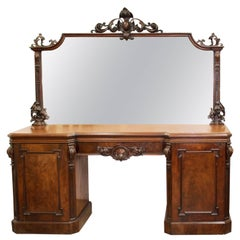Ello Large Mirrored Sideboard Credenza At 1stdibs