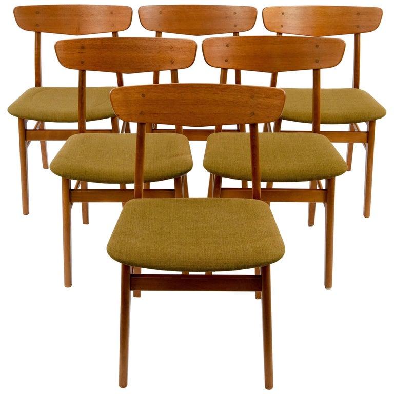 Set of (6) Danish Midcentury Teak Dining Chairs by SAX
