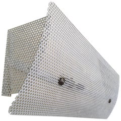 Pierre Guariche G320 Large White Perforated Metal Wall Lamp, 1952, France