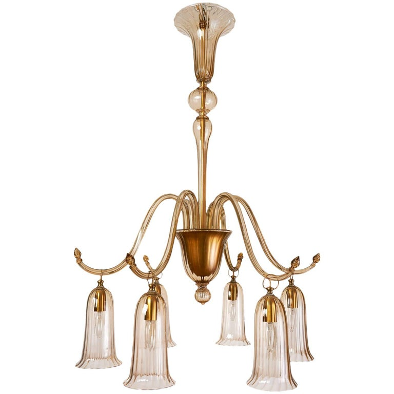 Murano blown glass straw colored chandelier by venini circa 1930 murano blown glass straw colored chandelier by venini circa 1930 for sale aloadofball Choice Image