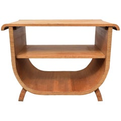 High Style English Art Deco U Base Console Table