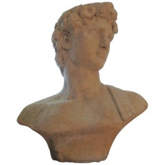 Neoclassical Life Size Marble Bust After David