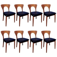 "Neils Koefoed Set of Eight ""Peter"" Chairs"
