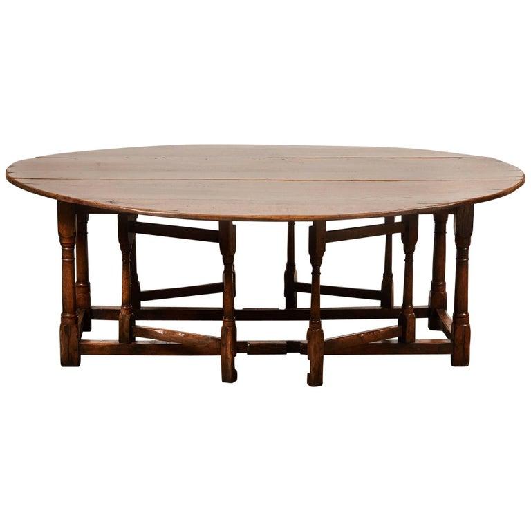 18th Century style English Oak Gateleg Table