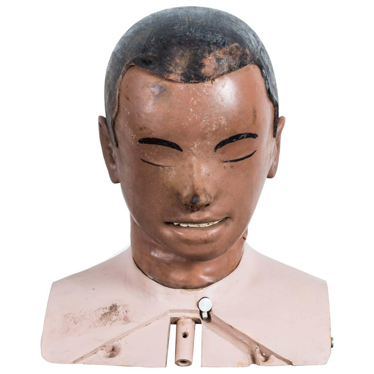 Vintage Resuscitation Male Dummy Training Head For Sale
