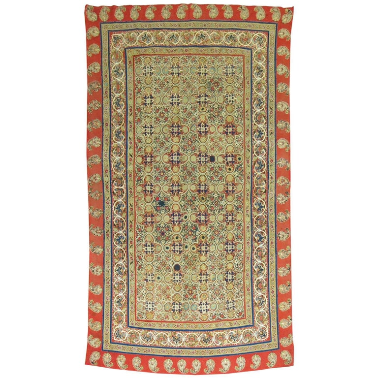 Antique Persian Rashti 'Rascht' Embroidery, 19th Century For Sale