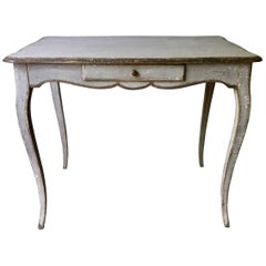 19th Century Louis XV Style Painted Small Table/Desk
