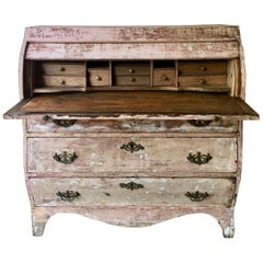 18th Century Dutch Cylinder Bureau/Secretaire